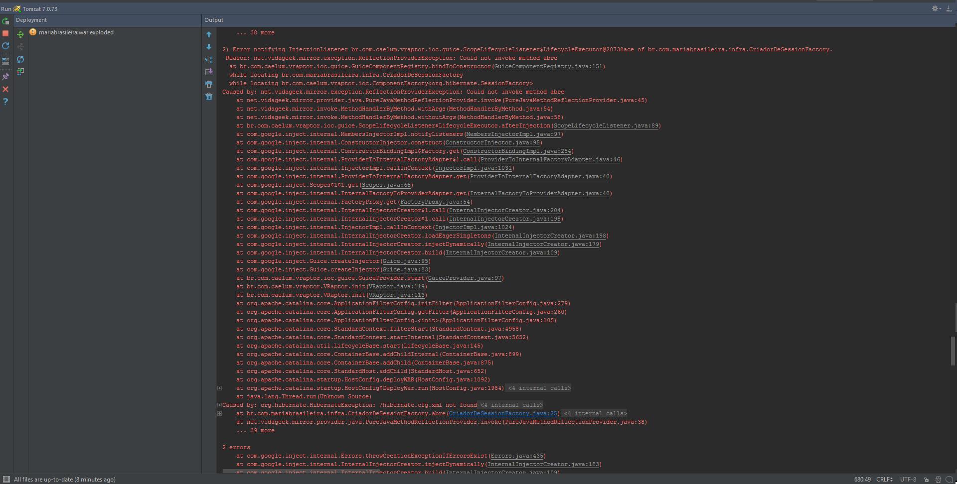Erro ao rodar projeto do Eclipse no Intellij - Java - GUJ