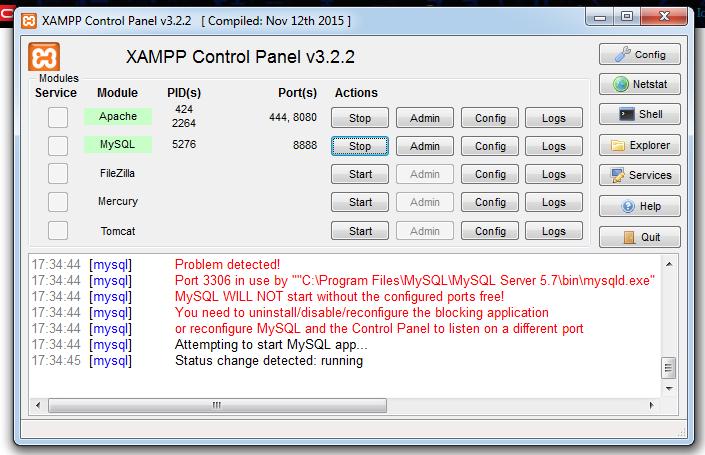 No consigo acessar phpmyadmin do xampp programao guj j instalei o xampp os servidor apache e mysql esto verdes como precisa mais no consigo acessar o phpmyadmin a tela so fica branca stopboris Gallery
