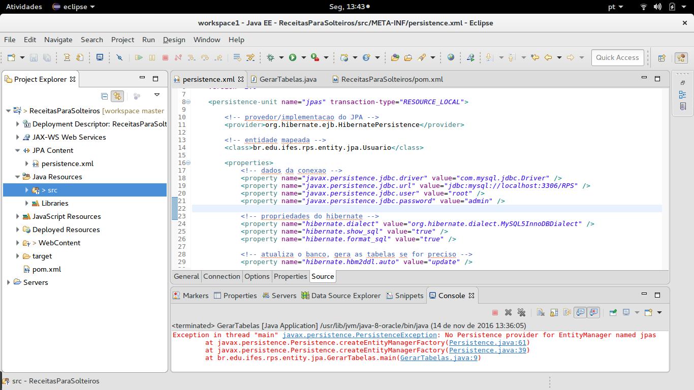 Configuração do banco MySQL x JPA x Hibernate - Java - GUJ