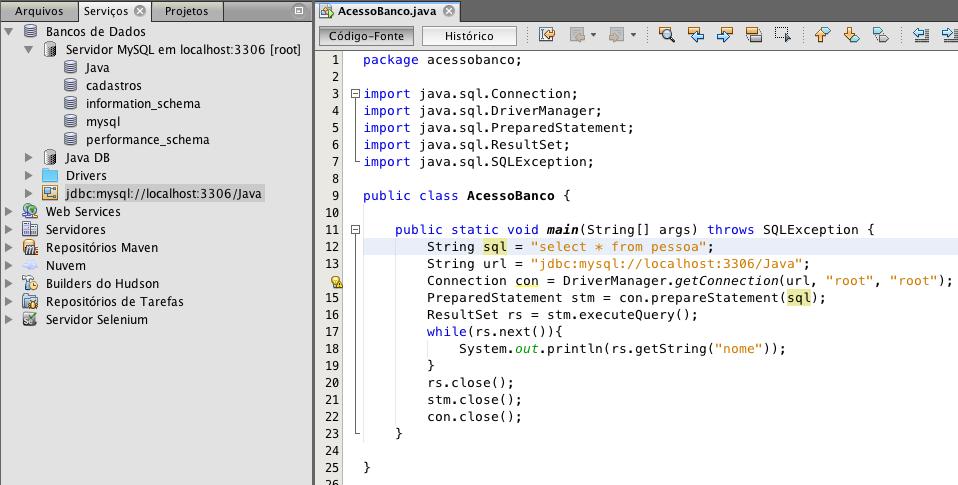 MySQL não conecta pelo getConnection() Netbeans - Java - GUJ