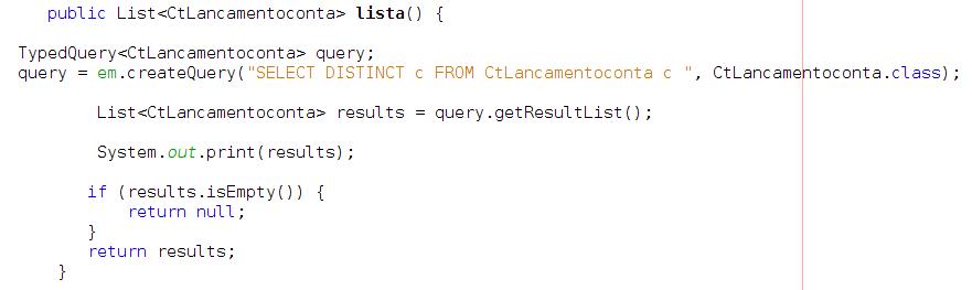 DISTINCT não funciona JPA/JPQL - Programação - GUJ