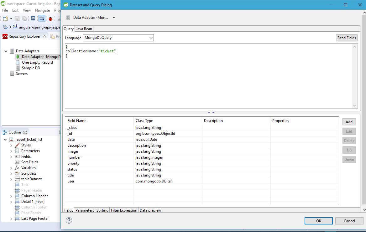 Gerar Fields no JasperReport com MongoDB - Java - GUJ